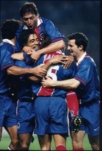 But pour le P.S.G. - 1996/1997 (photo : Christian Gavelle - PSG)