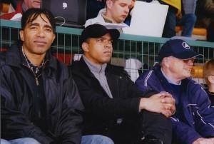 Patrice, William et Jef Laurent au tournoi de Montaigu, Pâques 2005