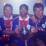 Coupe 1998, avec Gava, Revault et Cissé (photo : Ch. Gavelle - PSG)